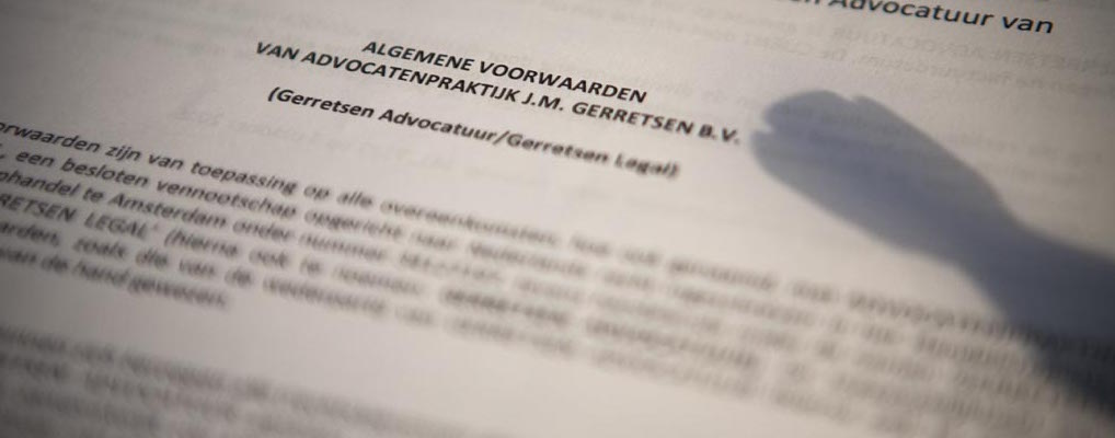 Gerretsen Advocatuur | Algemene voorwaarden foto